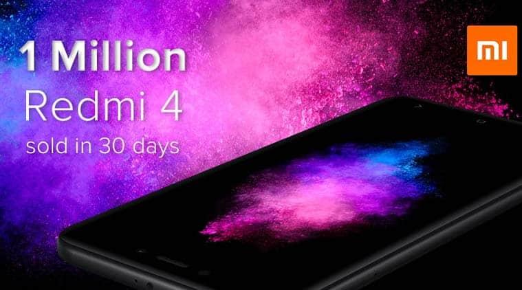 Xiaomi, Xiaomi Redmi 4, Redmi 4 sale, Redmi 4 sale units, Redmi 4 1 million sold, Redmi 4 sales numbers, Manu Kumar Jain, Redmi 4 specs, mobiles, smartphones