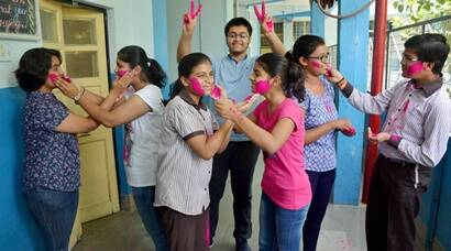 Maharashtra Board SSC 10th result 2017: Students celebrate with flying colours