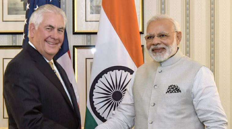 US Secretary of State Rex Tillerson calls on PM Narendra Modi
