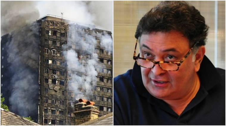 rishi kapoor, london fire, rishi kapoor london fire, rishi kapoor london fire photos