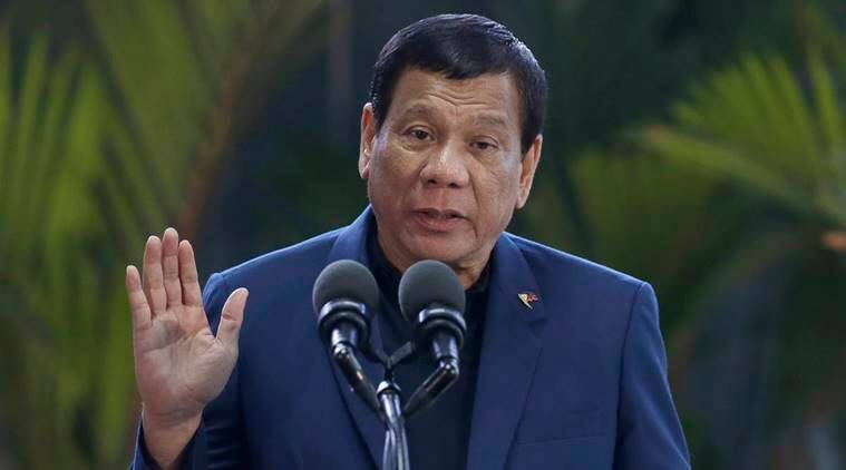 President Rodrigo Duterte, Philippines, philippine government, guerrilla attacks, presidential guards attack, communist rebels, peace talks, World News, Indian Express News