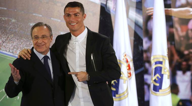 cristiano ronaldo, ronaldo, florentino perez, real madrid, perez, manchcester united, portugal, confederations cup, sports news, indian express