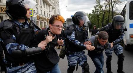 What is the protest by Opposition leaders in Russia all about?