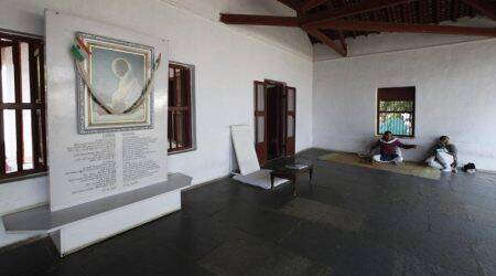 Thoughts of the 'chatur bania', at Sabarmati ashram