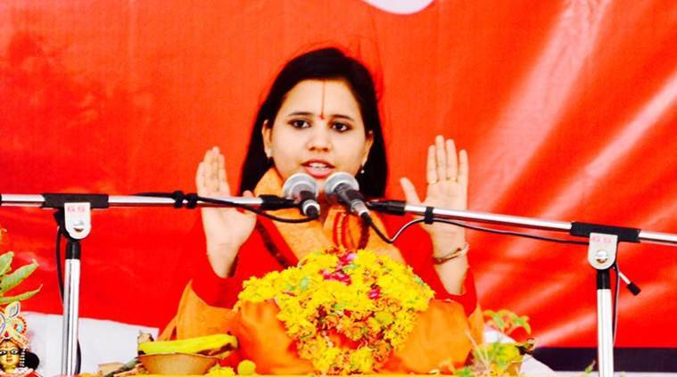 sadhvi saraswati, who is sadhvi saraswati, hindu convention, sadhvi saraswati beef, india news