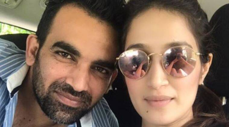 zaheer khan, Sagarika Ghatge, zaheer-sagarika, trinidad, west indies, india vs weest indies, cricket, sports news, indian express