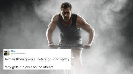 Salman Khan gives advice on road safety, the irony was not lost onTwitterati