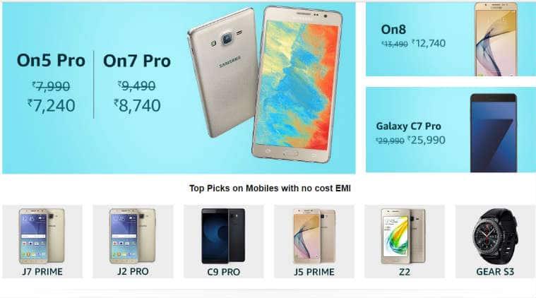 Samsung, Samsung Carnival, Amazon Samsung Carnival, Samsung C7 Pro discount, Samsung On8 offer