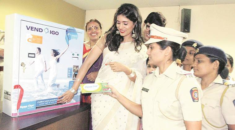 sanitary pad vending machine, sanitary napkin vending machine, mumbai police stations