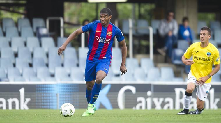 Marlon Santos, santos, barcelona, barcelona contract, barcelona sign marlon santos, Fluminense, football, sports news, indian express