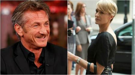 Actor Sean Penn reunites with ex wife Robin Wright