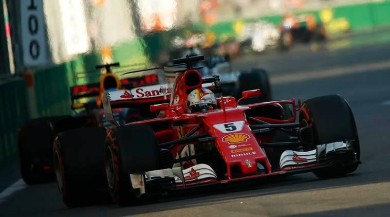 Sebastian Vettel, Ferrari, Indian Express