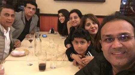 ICC Champions Trophy 2017: Virender Sehwag dines with Sourav Ganguly and SunilGavaskar