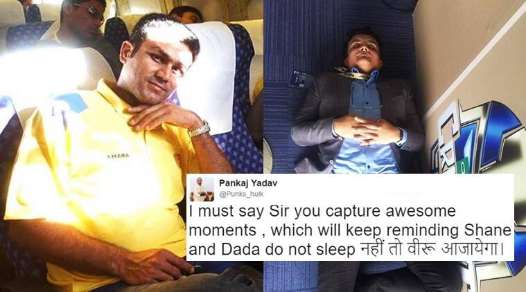 virender sehwag, virender sehwag twitter, sehwag twitter, sehwag tweets, sehwag sourav ganguly shane warne sleeping, sehwag tweets viral, sehwag latest tweets, sehwag sourav ganguly shane warne sleeping trending tweets, indian express, indian express news