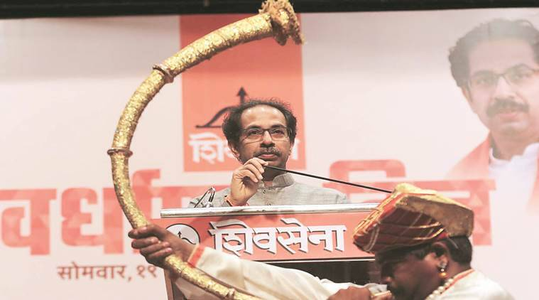 Shiv Sena Foundation Day, SHIV SENA president Uddhav Thackeray, Shiv Sena on Presidential Nominee, Dalit Candidate for president, Dalit votes, Udhhav Thackeray targets BJP, Maharashtra News, Indian Express News