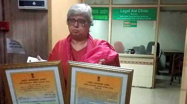 shabnam hashmi, National Minority Award, award wapsi, lynching, junaid, National Commission for Minorities, Gayorul Hasan Rizvi