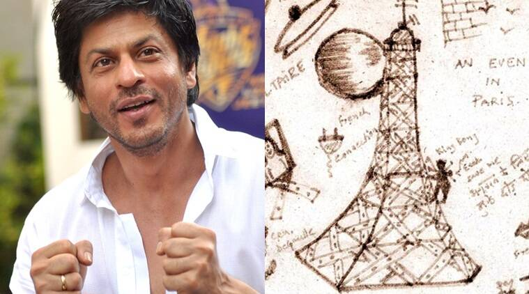 shah rukh khans 1997 doodle to be auctioned heres why