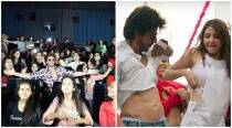 Shah Rukh Khan launches Jab Harry Met Sejal song Radha as Sejals of Ahmedabad join him. See photos, video