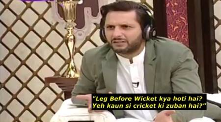 VIDEO: Shahid Afridi doesn't know what LBW stands for?! Twitterati wonder how he played for 20 yrs