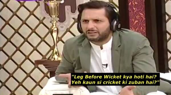 Shahid Afridi, twitter, shahid afridi clueless about lbw, shahid afridi does not know lbw, indian express, indian express news