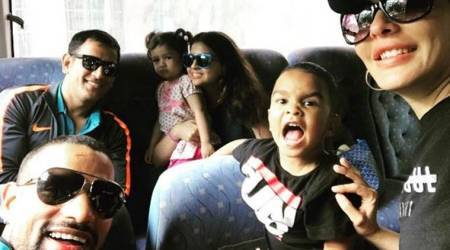 Shikhar Dhawan, MS Dhoni families together on the way to Antigua for 3rd ODI