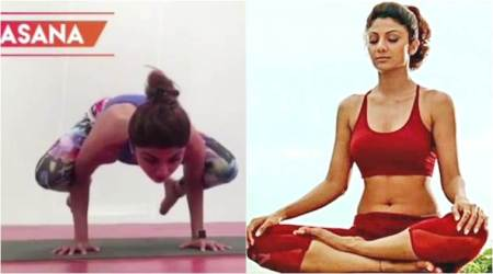 International Yoga Day 2017: Shilpa Shetty does a real tough asana and we're impressed. Watch video
