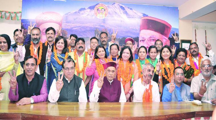 Shimla Civic Polls, BJP Councillors, Shimla News, Indian Express News