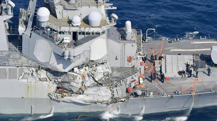 US navy ship collision news, US NAVY ship collides with merchants, US sailors missing, Missing US sailors, US ship collides with vessel, US news, World news, International news, World news