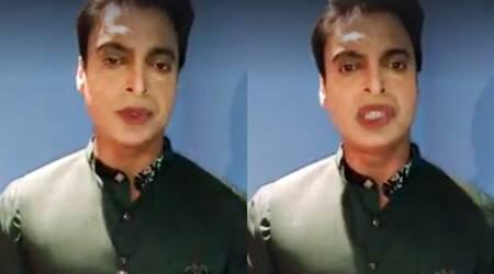 This Video Showing Shoaib Akhtar With 'Terribly Done' Make-up Has Left The Internet Confused