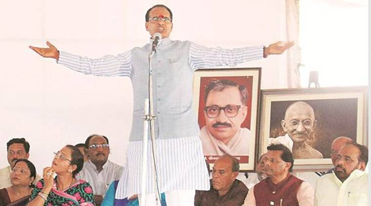 Shivraj Singh Chouhan, Madhya Pradesh CM Shivraj Singh Chouhan, Shivraj Singh Chouhan Fasting, Madhya Pradesh CM Fasting, Madhya Pradesh Farmers Protest, India News, Indian Express, Indian Express News
