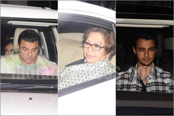 salim khan image, arbaaz khan, alvira house party, slaman khan family