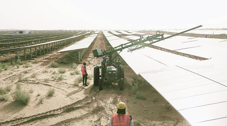 bhadla solar park, bhadla solar power plant, rajasthan power plant, rajasthan solar energy park, biggest solar park india, bhadla solar project