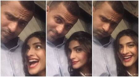Sonam Kapoor and Anand Ahuja are goofing around. Are these their most candid selfies? See photos