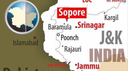 Two Hizbul militants killed hours after attack on police party inSopore