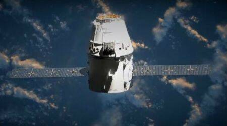 International Space Station welcomes first returning vehicle since Atlantis shuttle