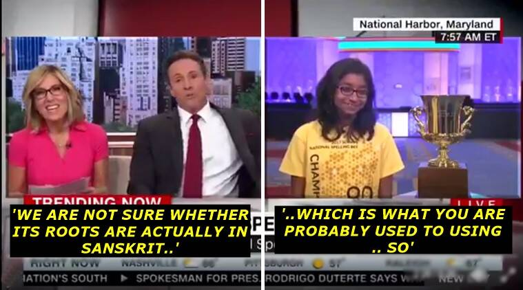 indian spelling bee champion, indian spelling bee winner, indian spelling bee winner ananya vinay, CNN racist comments to ananvya vinay, cnn host racism towards ananya vinay, cn host video showing racism towards ananya vinay indian spelling bee champion, indian express, indian express news