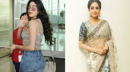 Sridevi keeps it classic in floral saris; daughter Jhanvi Kapoor goes New York street-chic