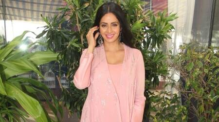 MOM promotions: Sridevi in this pink breezy dress is all kinds of pretty