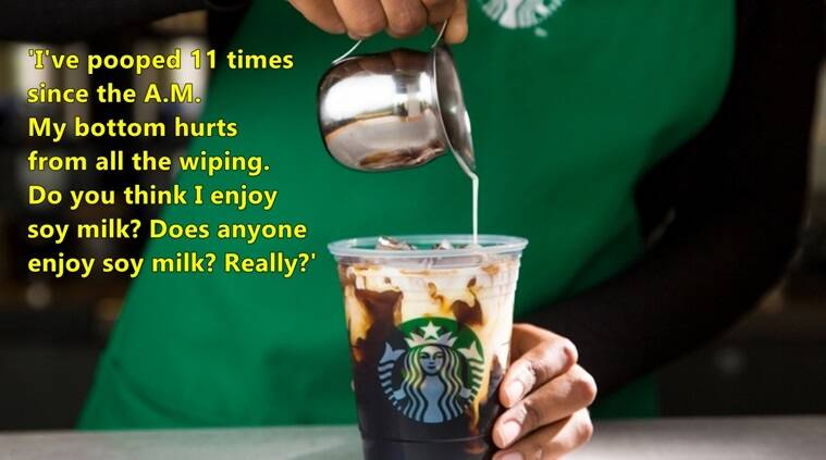 starbucks, starbucks lactose intolerant man post facebook, starbucks issues,