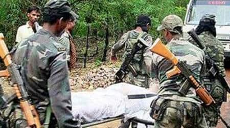 naxal attack, chhattisgarh village, DRG, raipur, hadeli village, jawan injured, kondagaon district, indian express, express online, india news