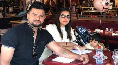 Away from cricket, Suresh Raina spends time with wife Priyanka, daughter Gracia in Paris, see pic