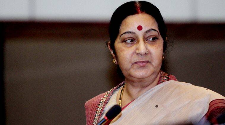 Sushma Swaraj, Sartaj Aziz, Jadhav, kulbhushan Jadhav, kulbhushan Jadhav mother, indian express news, india news