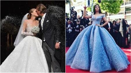 Swarovski heiress gets married in a £700,000 gown by same designer who did Aishwarya Rai Bachchan's Cannes Cinderellagown