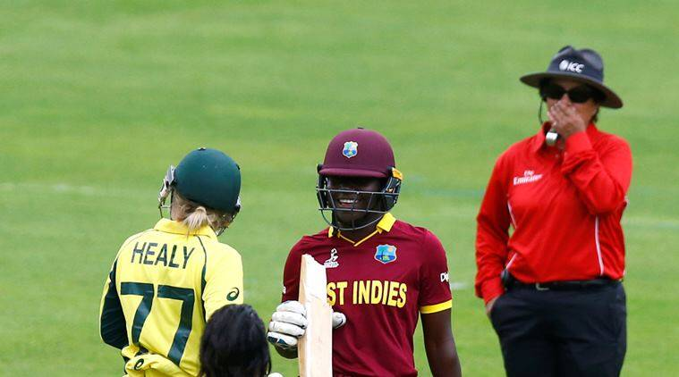 west indies vs australia, wi vs aus, Stephanie Taylor, confusion during toss, icc women's world cup 2017, women's world cup, wwc, cricket, sports news, indian express