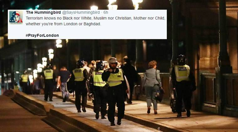 London terror attack, attack in london bridge, prayer for london, twitter reactions, indian express, indian express news