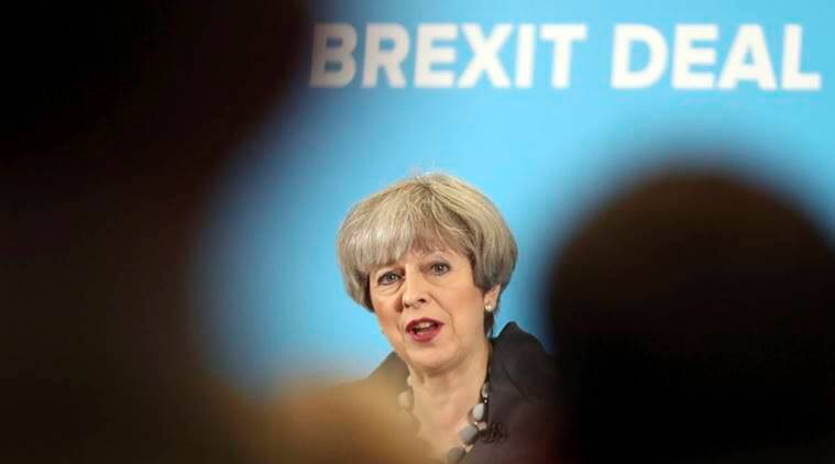 Brexit, European Union, Theresa May, Theresa May on Brexit,  French President Emmanuel Macron, world news, indian express news