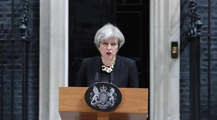 Theresa May, theresa may ministers resign, UK general elections, jeremy corbyn, conservatives, labour party, may loses majority, world news, indian express