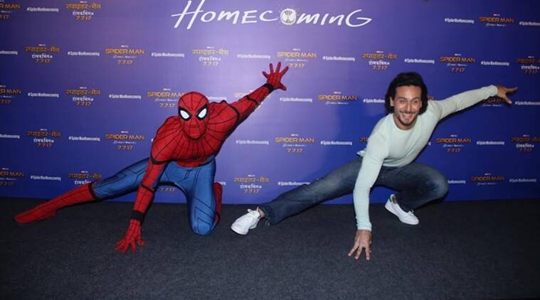 tiger shroff. spiderman homecoming, tiger shroff spiderman, spiderman homecoming trailer, spiderman homecoming hindi trailer, tiger shroff films