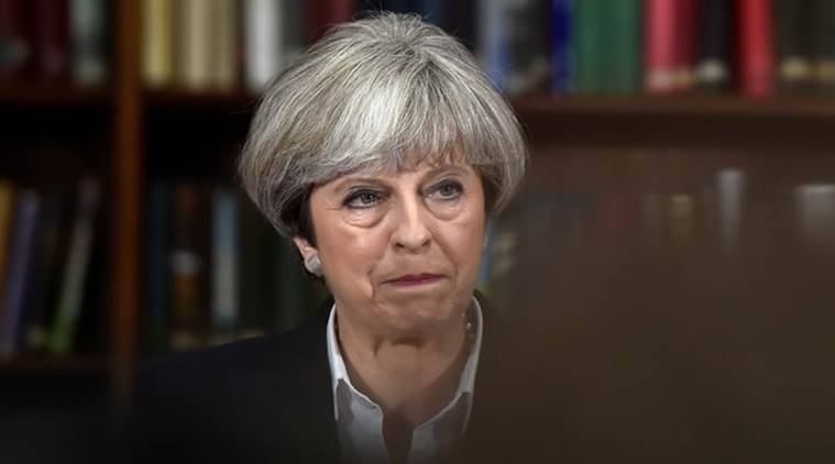 British PM Theresa May, Theresa May, London blaze, London Tower Blaze, Theresa May London Tower Blaze, British PM London Tower Blaze, World News, Latest World News, Indian Express, Indian Express News
