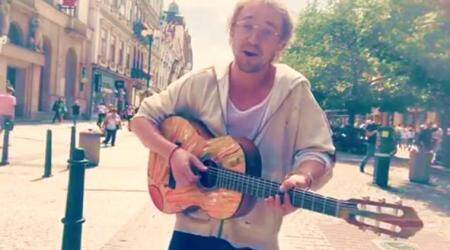 Harry Potter actor Tom Felton played guitar on the streets of Prague, and no one even recognised him